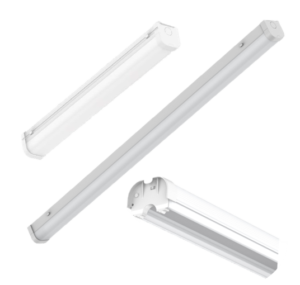 LED surface mount batten with emergency battery back-up