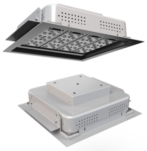 LED canopy light, recessed, metal halide replacement