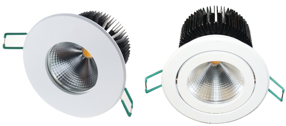 LED downlights with Flare