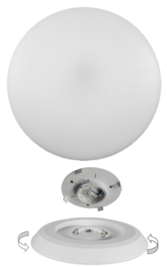 LED oyster replacement for fluorescent oyster and existing ceiling lights
